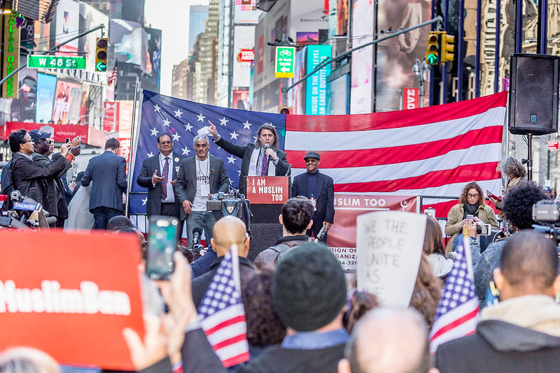 I Am A Muslim Too Rally, Times Square NYC, Sunday February 19 2017