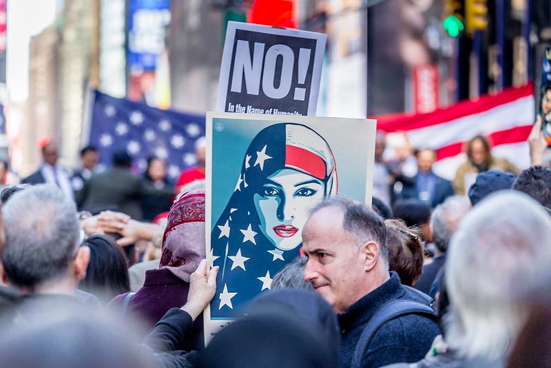 I Am A Muslim Too Rally, Times Square NYC, Sunday February 19 2017