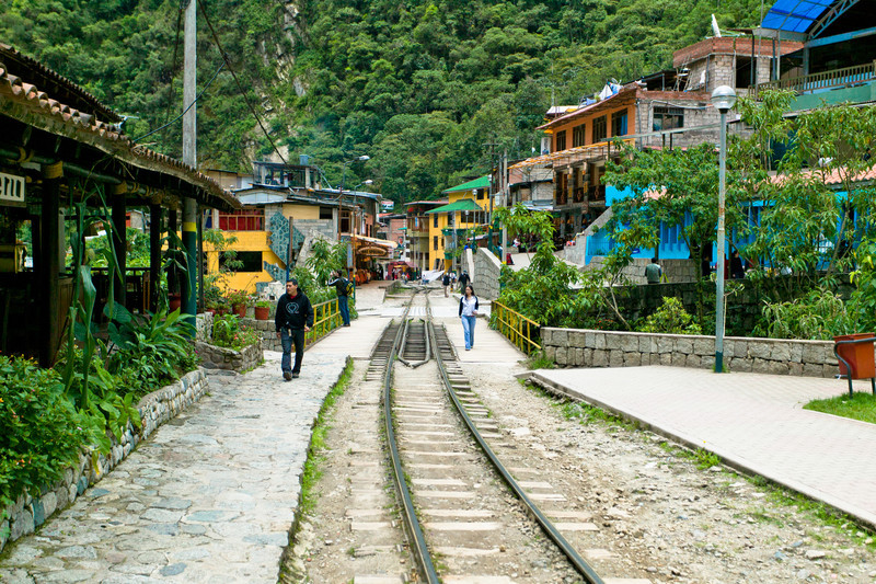 Aguas Calientes is the end of the train line.