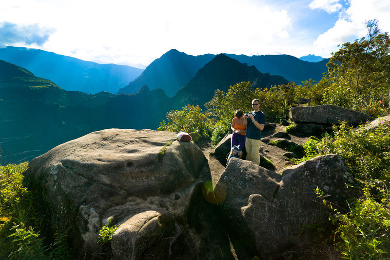 """Few tourists have the time or the energy to make it up the """"stair-master-from-hell"""" climb to the summit but for Juan, a tourist from Spain, it was """"well worth the effort."""""""