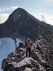 The west ridge of Veslebjørn mountain. Jotunheimen National Park. Norway.