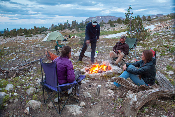 Most evenings are spent sitting around the campfire swapping tales form the field.