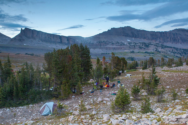 High camp in the Gros Venture Range, Wyoming