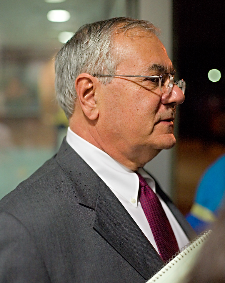 Barney Frank is our congressman (says a lot about us right there, eh?) He turned up.