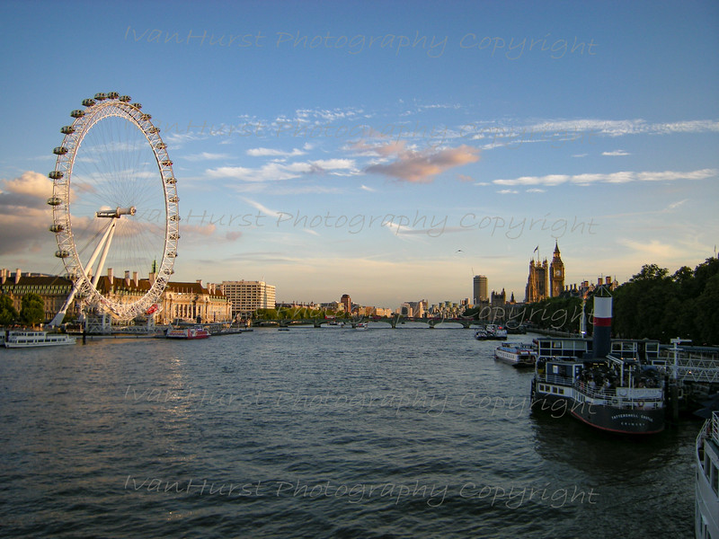 The London Eye on the Thames