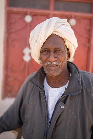 A man in the Meroe Souk.