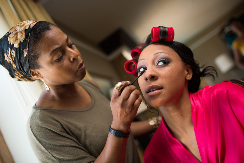 Makeup being applied!
