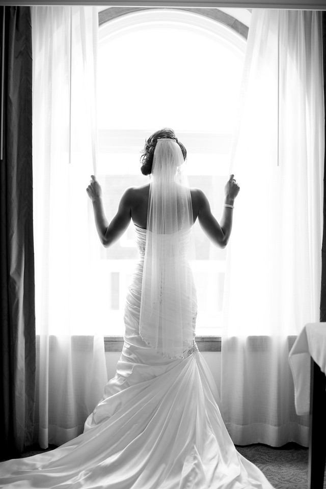 Her beautiful dress!