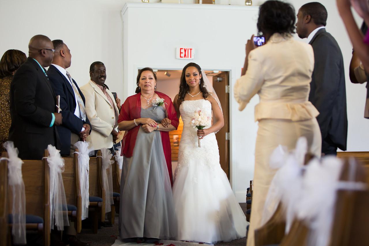 The Brides entrance!