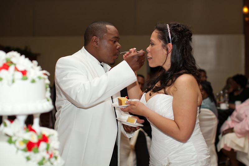 Sharing cake!