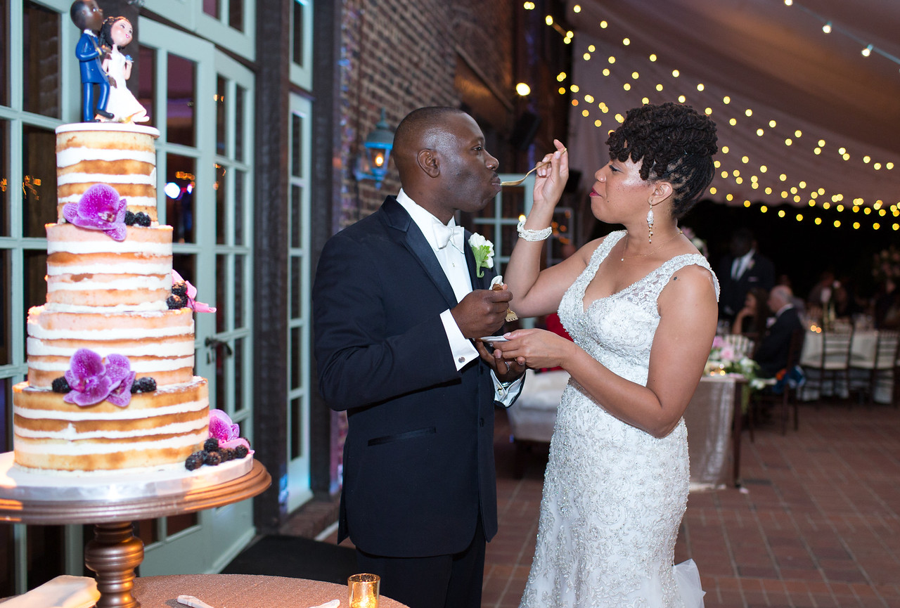 Feeding the groom!
