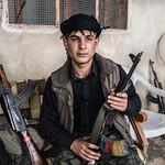 Frontline ouside  Kobane (Aleppo District),  Rojava Canton - Syria