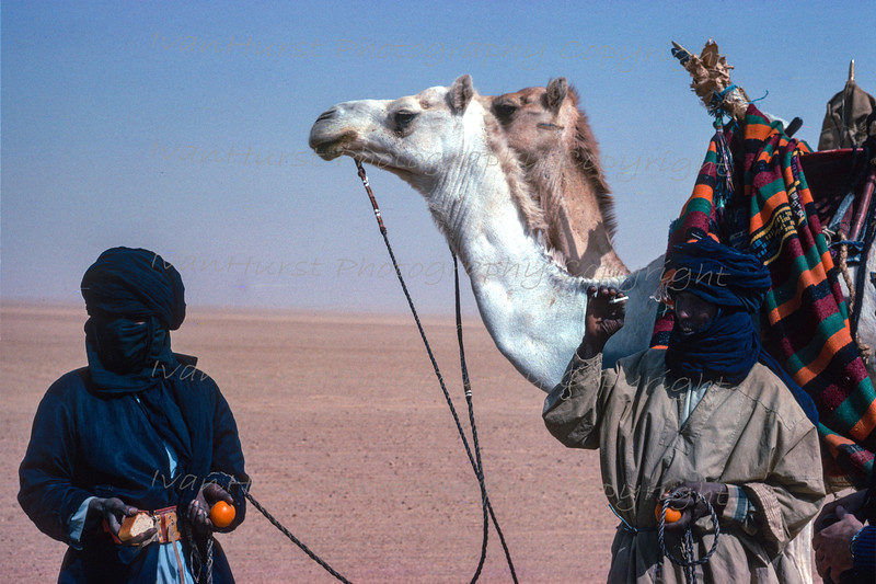 Locals with camels and gifts