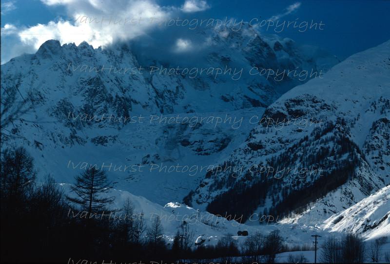 Brenva Glacier and Monte Bianco