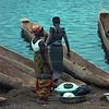 Canoes on Oubangui River