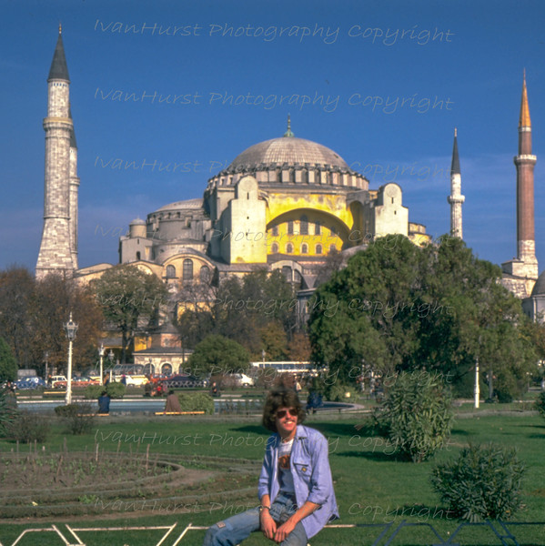 Pete in front of St Sophia, Istanbul