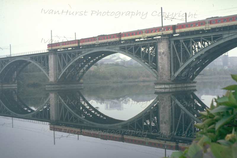 River Drava railway bridge in Maribor, from Pobreška cesta