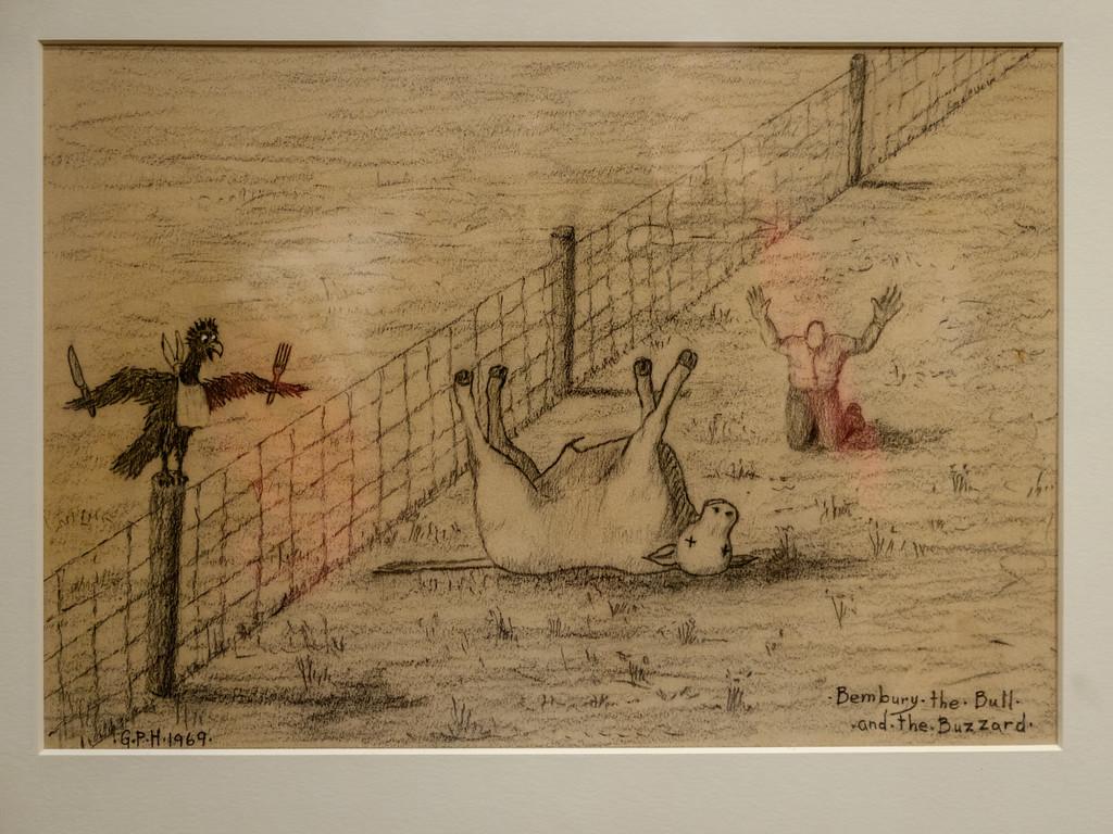 """Bembury, the Bull, and the Buzzard"", 1969, Pasquotank County, NC."