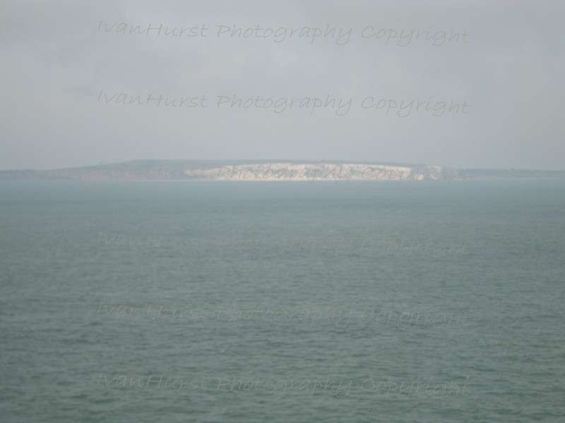 The white cliffs at Culver Down on the Isle of Wight