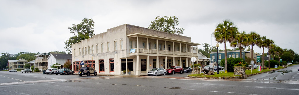 The old hotel at the center of town, on GA-40.