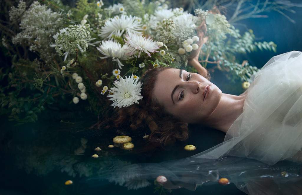 """""""Vanitas"""" a collaboration by Aya of Flower Couture and photographer Sam Breach"""