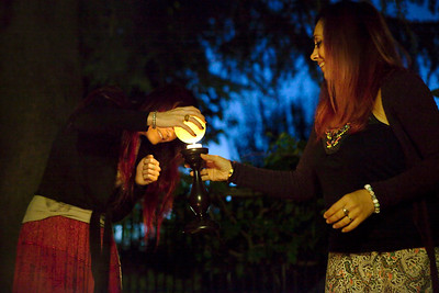 Mabon celebration - lighting up candles