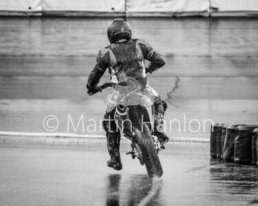 Friday 1:41pm: Wet track vs dry tyres.. Rick Breen rides for points.
