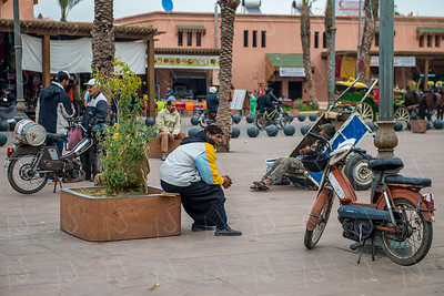 Second day in Marrakech, Morocco; walking around the Mellah area (Jewish quarter).