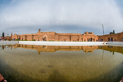 The Bahai Palace (ruins) and the Badi PalaceThe Badii Palace in Marrakech, Morocco.