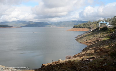 Lake Oroville continues to rise following a series of storms that have drenched Butte County with rain over the past several days in Oroville, Calif. Wed. Jan 11, 2017. (Bill Husa -- Enterprise-Record)