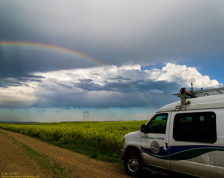 What do you find at the end of a staggered rainbow?