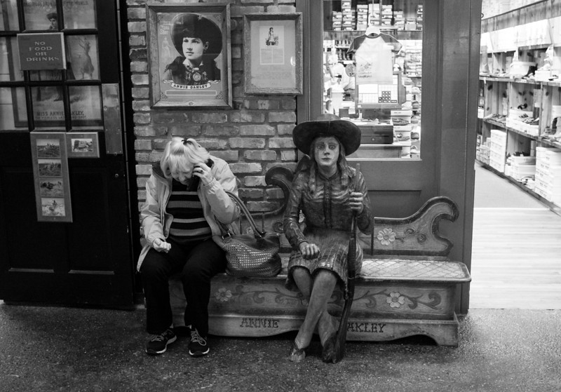 Wall drug is a main attraction of the city.  I loved there simply of so many interesting photo ops.