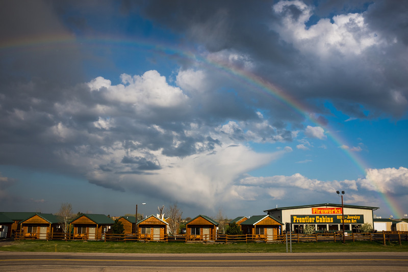 Day 6 - 5/14/2014: Wall SD<br /> Woke up to an incredible full rainbow backdroped against our lodging.