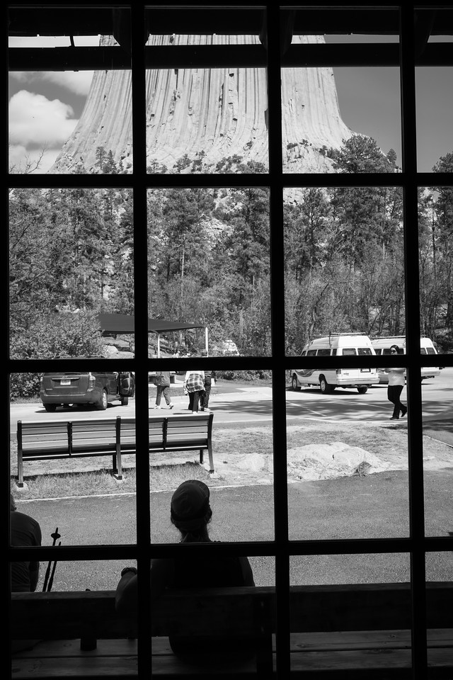 At the base of Devil's Tower.National Momentum.  National Momentum are designated by the president, while National Park are designated by the congress.