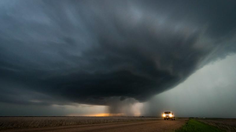 A beautiful storm that produced many lightnings near Wakeeney KS.