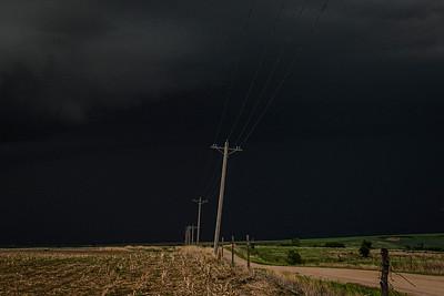 Darkened Storm Skies at Sunset