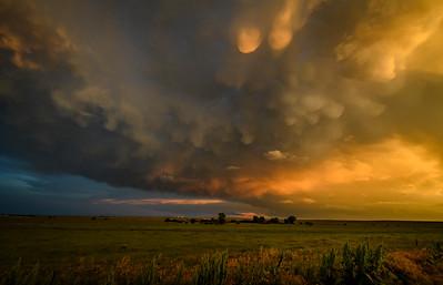 Mammatus Clouds Over the Oklahoma Panhandle