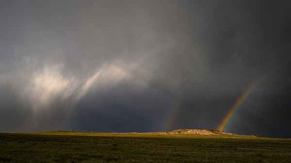 Double Rainbow on the Great Plains