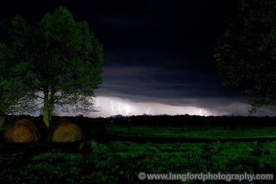 This was shot from our last spot of the evening.  The storm was still very electrically active as it moved away from us.