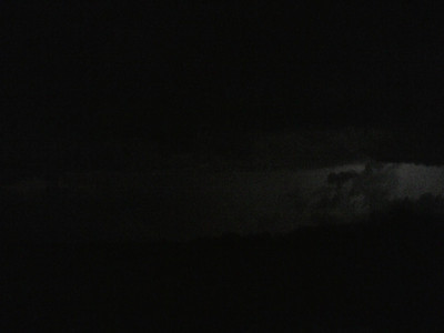 This was some of the most amazing lightning I have ever seen.  At one point, the sky over our heads cleared and we observed stars while the storm was racing away to the East.