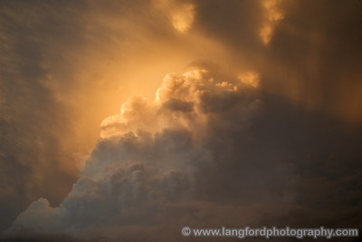 Close up view of the amazing sunset on the updraft.