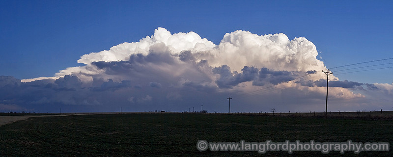 This is another view of the huge cluster of storms to our East.  It was really starting to gain steam now.