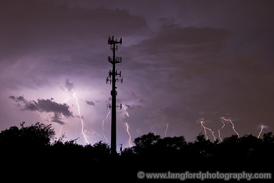 This is a timed composite of 4 or 5 shots.  What a beautiful storm!