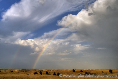 Nice double rainbow, with the Kingfisher storm in the background.  We were just north of El Reno.