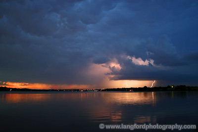 We started our evening on the East side of Whiterock Lake, just south of the Arboretum.  We had a beautiful view of the storms to our north, although they were quite a ways away.