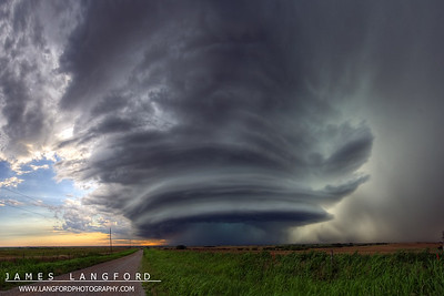 An even wider view of the storm.