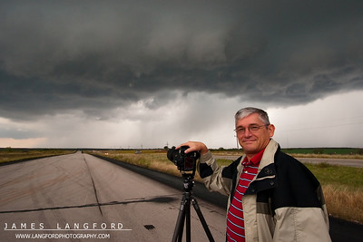 This was Ted's first storm chase with us, and I think he had a great time!