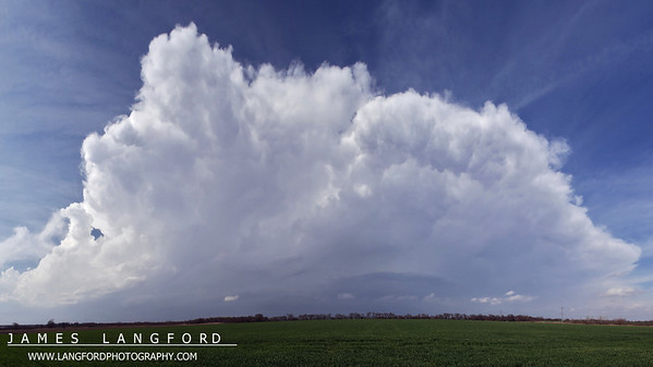 Developing storm near Sherman TX.