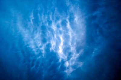 Incredible Mammattus clouds.  This was shot looking straight up, and captures the incredible churn that was happening in the atmosphere.