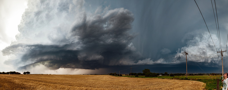 """""""Western OK Supercell""""  Piedmont, OK  One of my favorite hobbies after photography is storm chasing.  Experiencing the power and beauty of thunderstorms is something that is really hard to translate into images. Technical Details: Shot with Canon 5d mk2 and Canon 24-70mm lens at F10 and 1/8.    Panorama created from 12 vertical shots."""